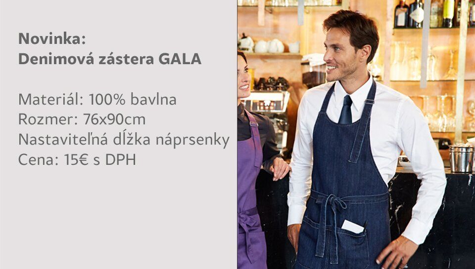Zástera denim Gala